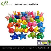Brinquedos Pato Pinguim Gato De Borracha Bebé Banho Kit 13