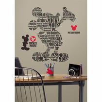 Adesivo Michey Mouse Tipografia Disney - York Rmk2073gm