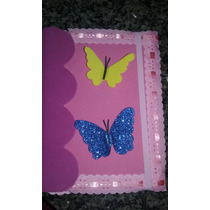 Artesanatos Cadernos Decorados Em Tecidos E Eva