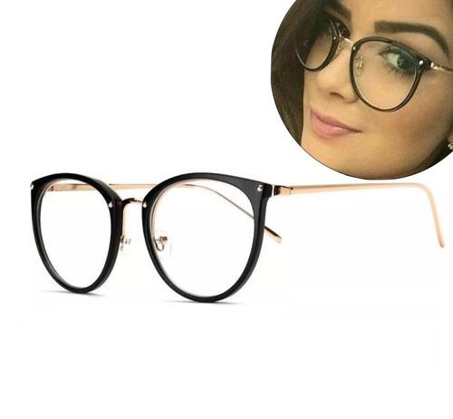 ca695e247 Oculos De Grau Feminino Armação Em Acetato Geek Vintage Gato