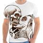 Camiseta Camisa Caveira Mexicana Beijo Kiss Skull Florida 11