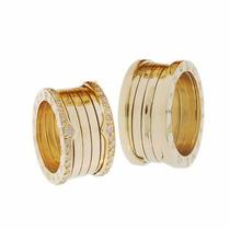 Alianças Modelo Bvlgari Em Ouro 18k Com Diamantes