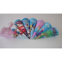 50 Cones Para Guloseima Personalizada Hoje R$ 0,55 A Unidade