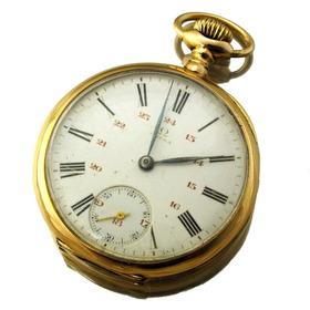 cb9e9c451bf Omega De Bolso Grand Prix Paris Relógio Em Ouro 18k J12605
