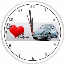 Relógio De Parede Decorativo Eu Amo Fusca Barato Promoção
