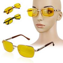 Óculos Night Drive Proteção Armação Metal Fechada Grande