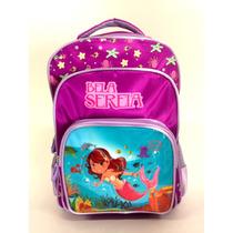 Mochila Infantil Feminina Escola Fundo Do Mar Criança Linda!