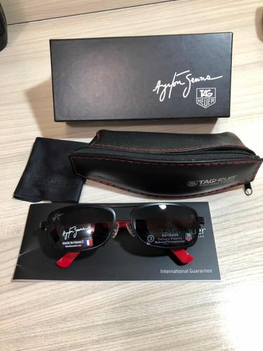 ce98fe7db Óculos De Sol Tag Heuer Ayrton Senna Importado Dos Eua
