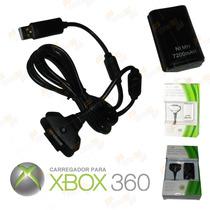 Cabo Carregador 3 Metros + Bateria 7200mah Controle Xbox360