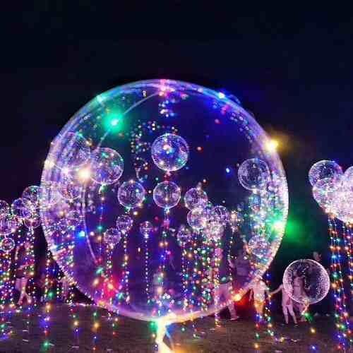 10x Balao P  Festa Led Bubble Aniversario Casamento Bexiga 58b91df5e6