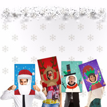 Kit 04 Placas Personagens De Natal Diversos Modelos