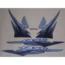 Jogo Faixa Adesivo Cb 500 - 2001 - Preta