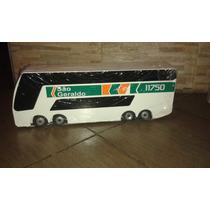 Miniatura Ônibus Replica De Madeira