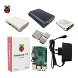 Kit Raspberry Pi3 Model B, Fonte , Case, Dissipador