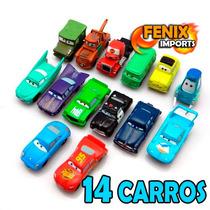 Carros Disney 14 Miniaturas Mcqueen Filme Carros Mack Dinoco