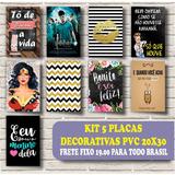 Placas Decorativas Filmes Retro Vintage Frases Kit 5 Peças
