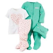 Conjunto Infantil Macacão Kit 4 Peças Carters Importado