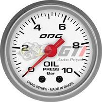 Manômetro Pressão De Óleo 10bar Odg Drag 52mm