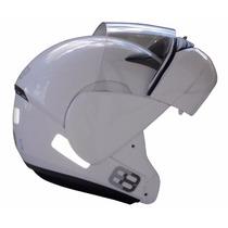 Capacete Ebf E8 Robocop Articulado Branco É Na Dragon Racing