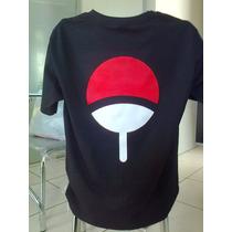 Camiseta Naruto Sasuke Uchiha - Camisa Preta - Símbolo