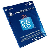 Cartão Playstation R$160 Reais Plus Psn Brasil Brasileira Br