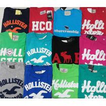 Camiseta Masculina Kit Em Atacado 10 Peças Hollister E Aber