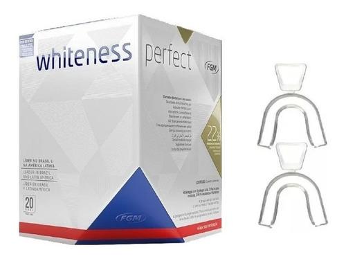 Kit Clareamento Caseiro Whiteness Perfect 22% + Moldeiras