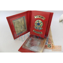 Porta Notas Cartões Feminina Advogada Oab Couro Legítim C64v