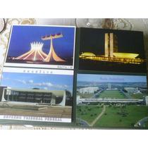 4 Cartões Postais De Brasília - Novos