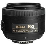Lente Nikon 35mm F/1.8g Af-s Dx Autofoco +parasol +case +nfe