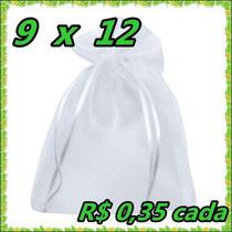 100 Saquinhos De Organza 9x12 Cm Lembrancinhas Fita De Cetim