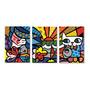 Quadros Decorativos 1,30x60 Romero Brito Mod.451