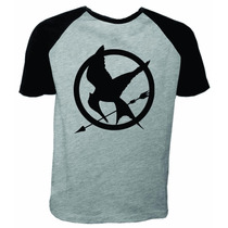 Camiseta Raglan Manga Curta Jogos Vorazes O Tordo