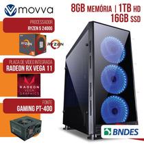 Computador Gamer Amd Ryzen 5 2400g 3.6ghzmem. 8gb Hd 1tb