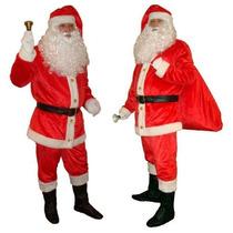 Roupa Fantasia De Papai Noel Em Veludo - Só Roupa