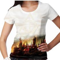 Camiseta Harry Potter Relíquias Da Morte Feminina