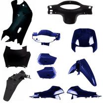 Kit Carenagem Completa P/ Biz 100 Ano 2004 - Azul Perolizado