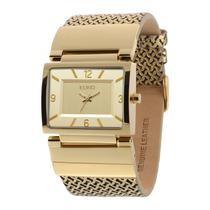 Relógio Feminino Euro Premium Eu2035lxt/2d - Dourado / Pu...