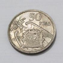 50 Pesetas, Moeda, Espanha, 1957