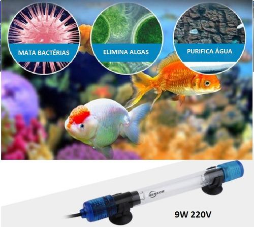 Filtro Lampada Germicida Ultra Violet Uv Submersível 13w 220v