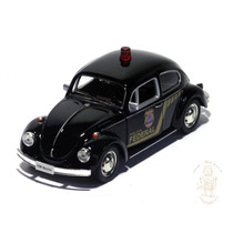 Miniatura Volkswagen Fusca Policia Federal 1/32 Preta