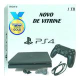 Ps4 Playstation 4 Slim Novo Vitrine 1tb Bivolt Sony Garantia