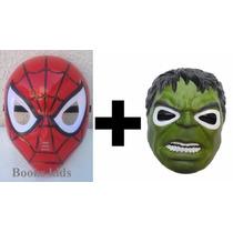 Máscara Do Homem Aranha + Hulk Com Luzes
