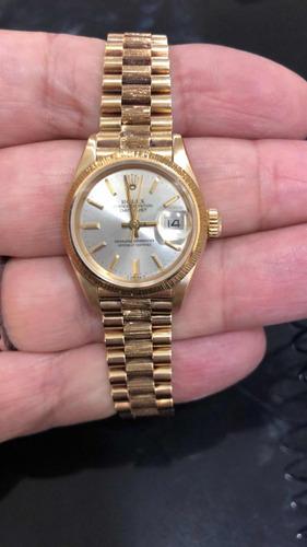 18c36e9ebdc Rolex Presidente Feminino Todo Em Ouro 18k Lindo