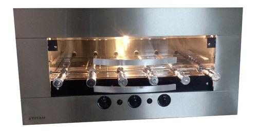 Churrasqueira De Embutir A Gás - 6 Espetos + Kit Ventilação