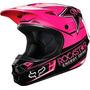 Capacete Fox V1 Rockstar Rosa Motocross Trilha 57-58 Médio