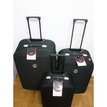 Jogo Mala De Viagem Primicia Kit P / M / G Cor Preta