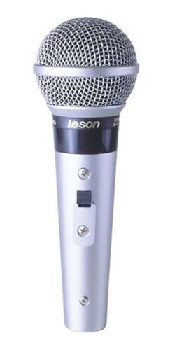 Microfone Le Son Sm-58 P-4 Dinâmico Prata