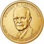 Estados Unidos 1 Moeda 1 Dólar President Eisenhower Fc Novas