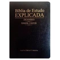 Bíblia De Estudo Explicada Harpa Dicionário E Índice Lçto